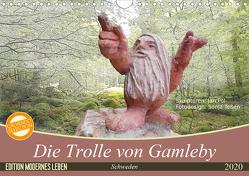 Die Trolle von Gamleby – Schweden – Skulpturen von Jan Pol (Wandkalender 2020 DIN A4 quer) von Teßen,  Sonja