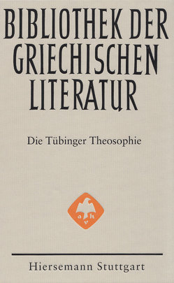Die Tübinger Theosophie von Carrara,  Laura, Männlein-Robert,  Irmgard, Seng,  Helmut
