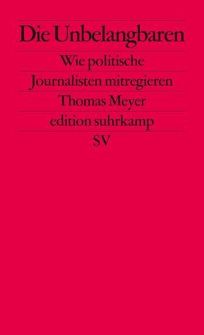 Die Unbelangbaren von Meyer,  Thomas