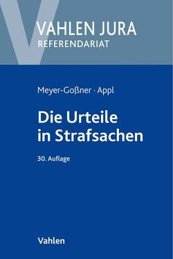 Die Urteile in Strafsachen von Appl,  Ekkehard, Kroschel,  Theodor, Meyer-Goßner,  Lutz