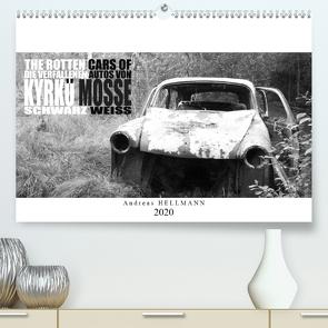 Die verfallenen Autos von Kyrkö Mosse (Premium, hochwertiger DIN A2 Wandkalender 2020, Kunstdruck in Hochglanz) von Hellmann,  Andreas