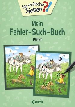 Die verflixten Sieben – Mein Fehler-Such-Buch – Pferde von Gerigk,  Julia