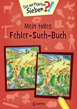 Die verflixten Sieben – Mein tolles Fehler-Such-Buch von Krause,  Joachim, Leiber,  Lila L., Wieker,  Katharina