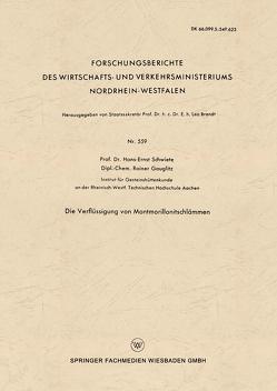 Die Verflüssigung von Montmorillonitschlämmen von Schwiete,  Hans-Ernst