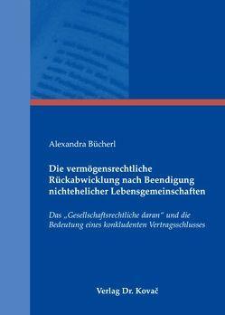 Die vermögensrechtliche Rückabwicklung nach Beendigung nichtehelicher Lebensgemeinschaften von Bücherl,  Alexandra