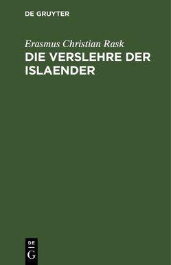 Die Verslehre der Islaender von Mohnike,  Gottl.Christ. Friedr., Rask,  Erasmus Christian