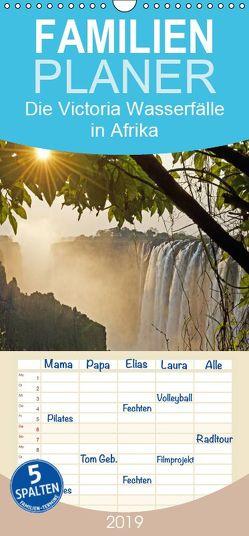 Die Victoria Wasserfälle in Afrika – Familienplaner hoch (Wandkalender 2019 , 21 cm x 45 cm, hoch) von CALVENDO