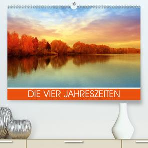 Die vier Jahreszeiten (Premium, hochwertiger DIN A2 Wandkalender 2021, Kunstdruck in Hochglanz) von Honkisz,  Violetta