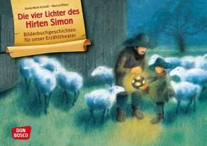 Die vier Lichter des Hirten Simon. Kamishibai Bildkartenset. von Pfister,  Marcus, Scheidl,  Gerda-Marie