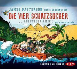 Die vier Schatzsucher – Teil 2: Abenteuer am Nil (3 CDs) von Clarén,  Marius, Grabenstein,  Chris, Patterson,  James, Seuß,  Siggi