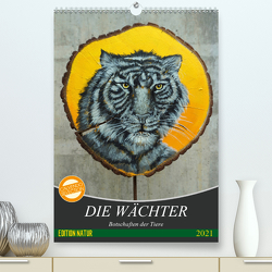 Die Wächter – Botschaften der Tiere (Premium, hochwertiger DIN A2 Wandkalender 2021, Kunstdruck in Hochglanz) von Felix,  Uschi