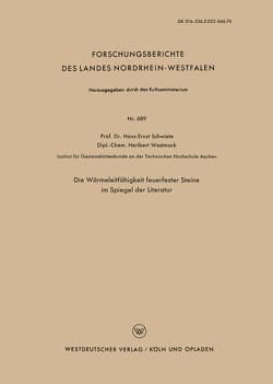 Die Wärmeleitfähigkeit feuerfester Steine im Spiegel der Literatur von Schwiete,  Hans-Ernst