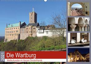 Die Wartburg – Weltkulturerbe im Herzen Deutschlands (Wandkalender 2021 DIN A2 quer) von Geyer,  Volker