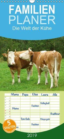 Die Welt der Kühe – Familienplaner hoch (Wandkalender 2019 , 21 cm x 45 cm, hoch) von kattobello