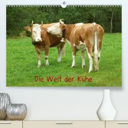 Die Welt der Kühe (Premium, hochwertiger DIN A2 Wandkalender 2021, Kunstdruck in Hochglanz) von kattobello