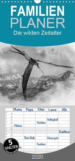 Die wilden Zeitalter – Familienplaner hoch (Wandkalender 2020 , 21 cm x 45 cm, hoch) von Gaymard,  Alain