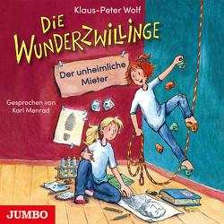 Die Wunderzwillinge und der unheimliche Mieter von Menrad,  Karl, Wolf,  Klaus-Peter