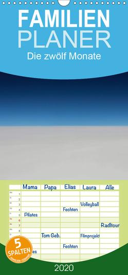 Die zwölf Monate – Familienplaner hoch (Wandkalender 2020 , 21 cm x 45 cm, hoch) von Hultsch,  Heike