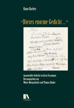 «Dieses enorme Gedicht …» von Binder,  Thomas, Morgenthaler,  Walter, Raeber,  Kuno