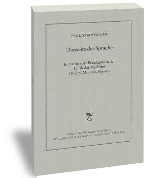 Diesseits der Sprache von Strohmaier,  Paul