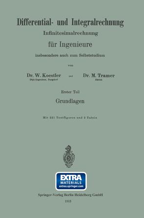 Differential- und Integralrechnung von Koestler,  Waldemar, Tramer,  M.