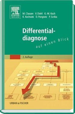 Differentialdiagnose auf einen Blick von Classen,  Meinhard, Diehl,  Volker, Koch,  Karl-Martin, Kochsiek,  Kurt, Pongratz,  Dieter, Scriba,  Peter