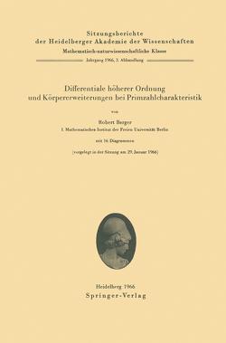 Differentiale höherer Ordnung und Körpererweiterungen bei Primzahlcharakteristik von Berger,  Robert