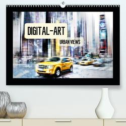 Digital-Art URBAN VIEWS (Premium, hochwertiger DIN A2 Wandkalender 2021, Kunstdruck in Hochglanz) von Viola,  Melanie