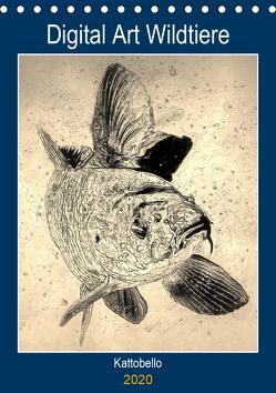 Digital Art Wildtiere (Tischkalender 2020 DIN A5 hoch) von kattobello
