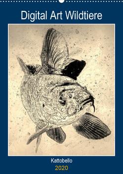 Digital Art Wildtiere (Wandkalender 2020 DIN A2 hoch) von kattobello
