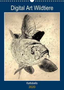 Digital Art Wildtiere (Wandkalender 2020 DIN A3 hoch) von kattobello