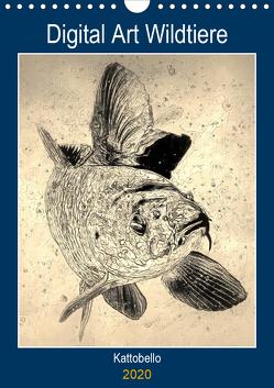 Digital Art Wildtiere (Wandkalender 2020 DIN A4 hoch) von kattobello