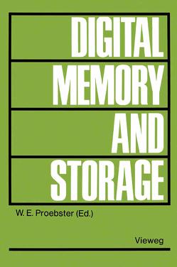 Digital Memory and Storage von Proebster,  Walter E.
