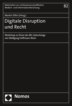 Digitale Disruption und Recht von Eifert,  Martin