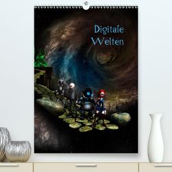 Digitale Welten (Premium, hochwertiger DIN A2 Wandkalender 2021, Kunstdruck in Hochglanz) von Buch,  Norbert