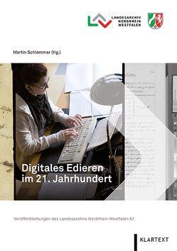 Digitales Edieren im 21. Jahrhundert von Schlemmer,  Martin