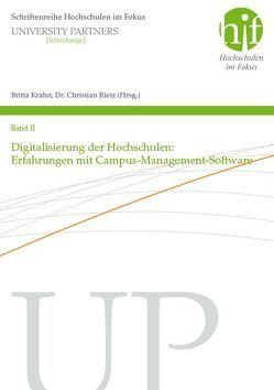 Digitalisierung der Hochschule: Erfahrungen mit Campus-Management-Software von Krahn,  Britta, Rietz,  Christian