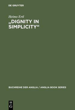 """""""Dignity in Simplicity"""" von Ertl,  Heimo"""