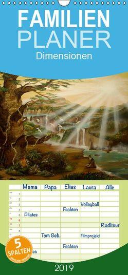 Dimensionen – Familienplaner hoch (Wandkalender 2019 <strong>21 cm x 45 cm</strong> hoch) von Krakowski,  Conny