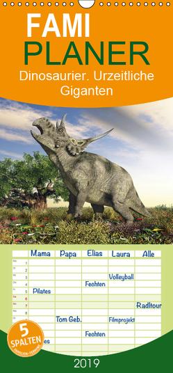Dinosaurier. Urzeitliche Giganten – Familienplaner hoch (Wandkalender 2019 , 21 cm x 45 cm, hoch) von Stanzer,  Elisabeth