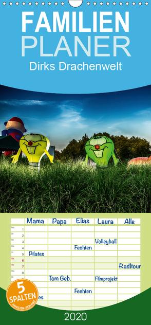 Dirks Drachenwelt – Familienplaner hoch (Wandkalender 2020 , 21 cm x 45 cm, hoch) von Bartschat,  Dirk