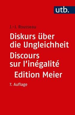 Diskurs über die Ungleichheit Discours sur l'inégalité von Rousseau,  Jean Jaques