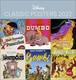 Disney Classic Filmplakate Postkartenkalender 2022 von Heye