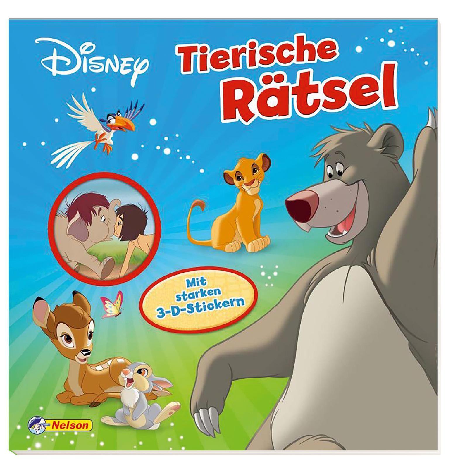 Disney Klassiker Tierische Rätsel Von Mit Starken 3 D Stickern