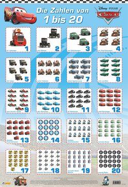 Disney Lernposter: Cars – Die Zahlen von 1 bis 20 von Disney Enterprises,  Inc.,  Inc.