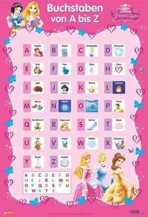 Disney Lernposter: Disney Prinzessinnen – Buchstaben von A bis Z von Disney Enterprises,  Inc.,  Inc.