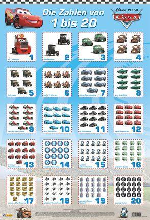 Disney Lernposter: VE 5 Cars – Die Zahlen von 1 bis 20 von Disney Enterprises,  Inc.,  Inc.