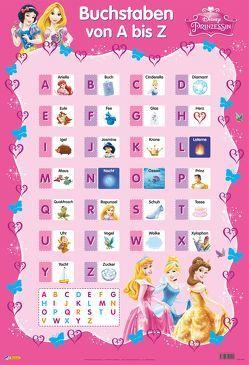 Disney Lernposter: VE 5 Disney Prinzessinnen – Buchstaben von A bis Z von Disney Enterprises,  Inc.,  Inc.
