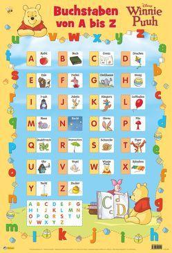 Disney Lernposter: VE 5 Winnie Puuh – Buchstaben von A bis Z von Disney Enterprises,  Inc.,  Inc.