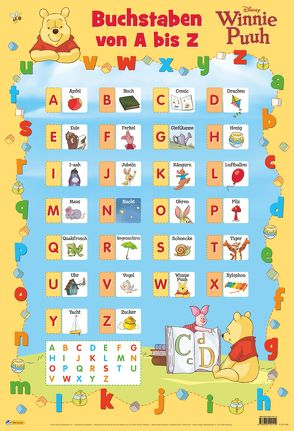 Disney Lernposter: Winnie Puuh – Buchstaben von A bis Z von Disney Enterprises,  Inc.,  Inc.